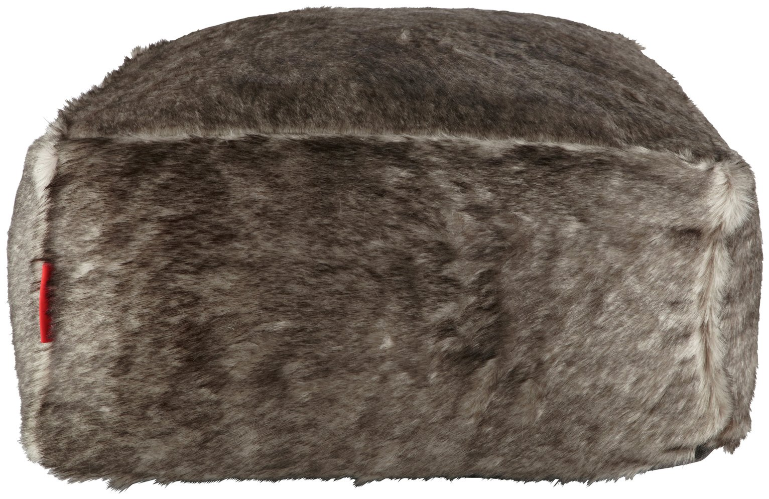 home-acrylic-fur-beanbag-black-grey