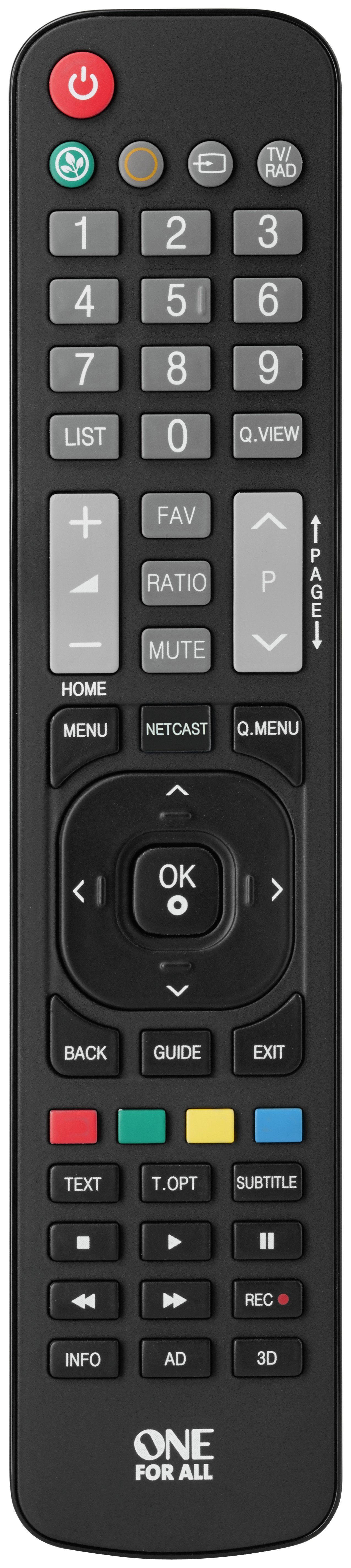 Image of One For All LG Remote Control