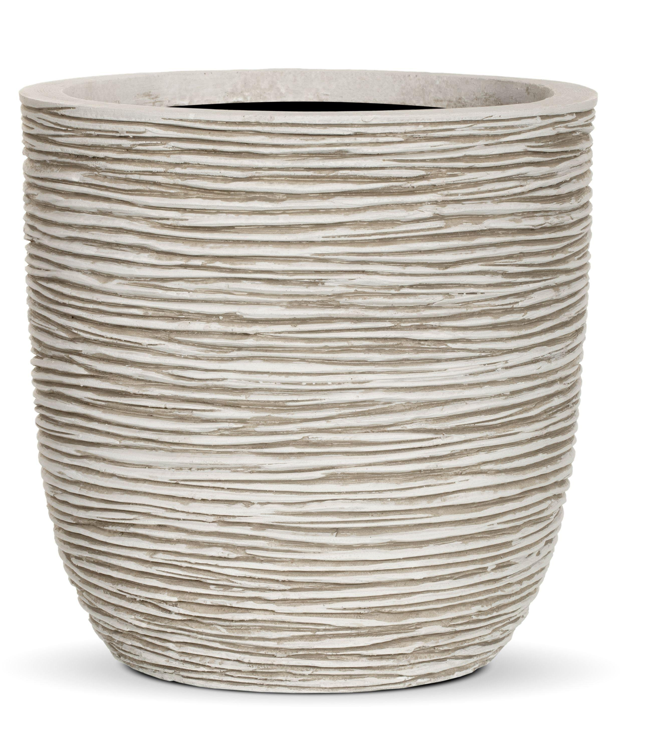 Capi - Nature White Ribbed Planter Egg - 28 x 26cm lowest price