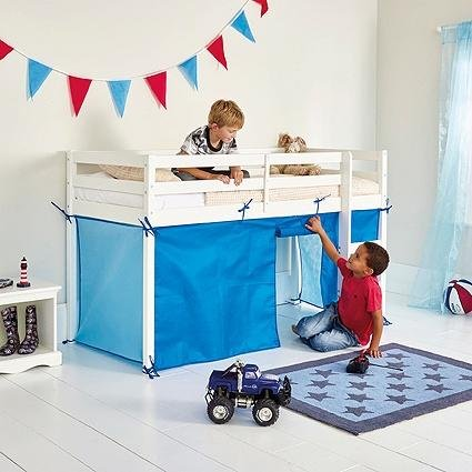 tent-for-single-midsleeper-bed-frame-blue
