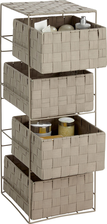 Argos Home 4 Drawer Storage Unit - Cafe Mocha