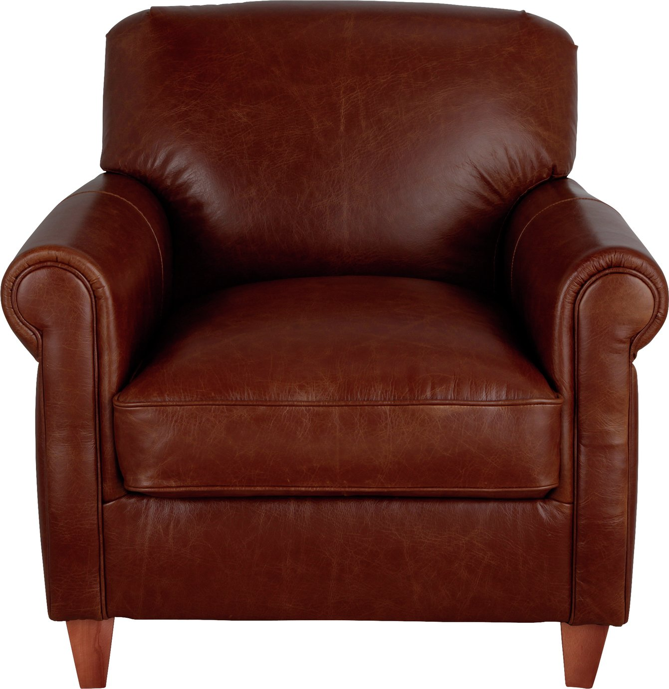 Argos Home Kingsley Leather Accent Chair - Tan