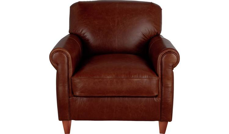 Habitat Kingsley Leather Accent Chair - Tan