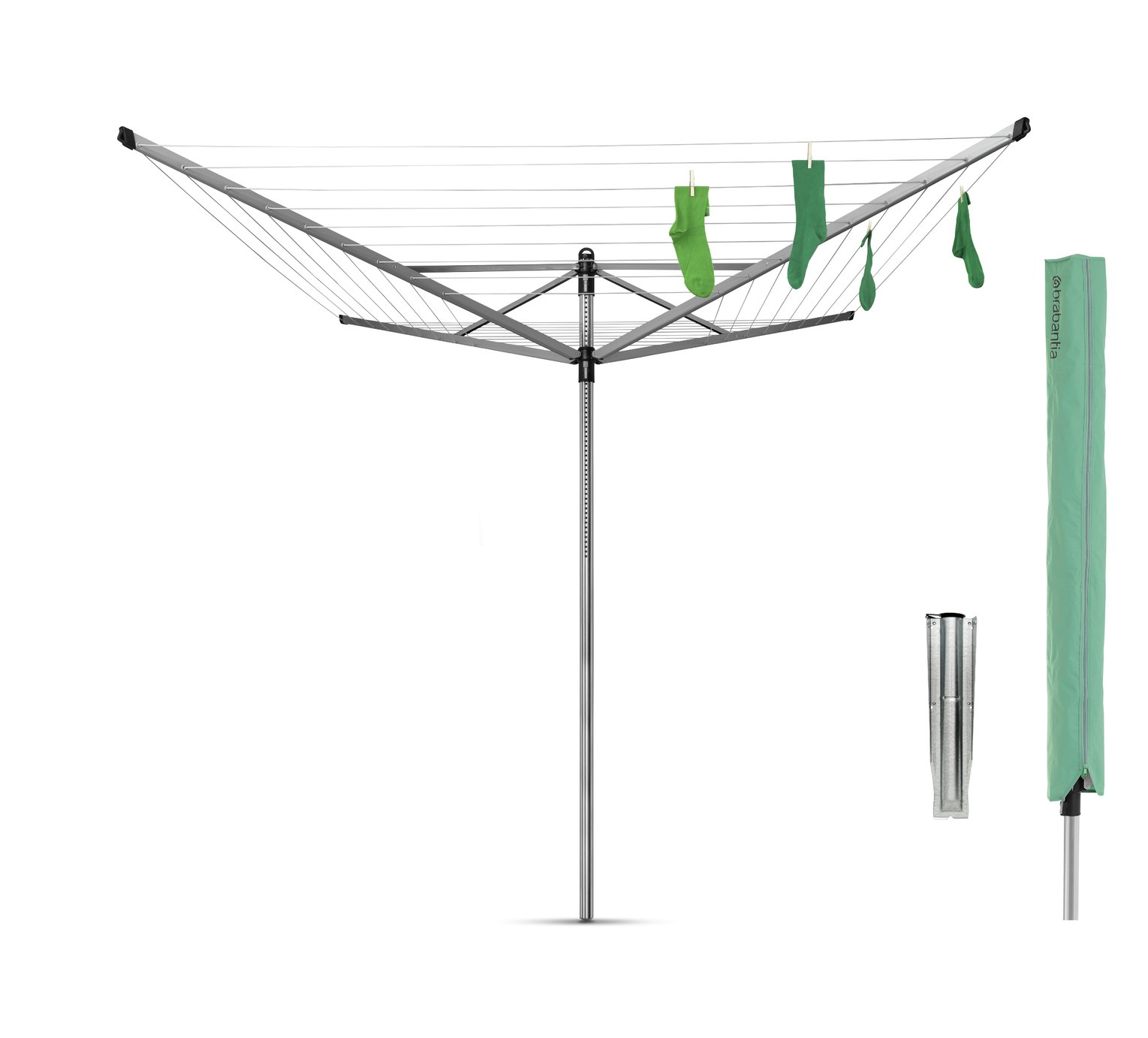 Brabantia 60m Lift-O-Matic Outdoor Washing Line with Cover