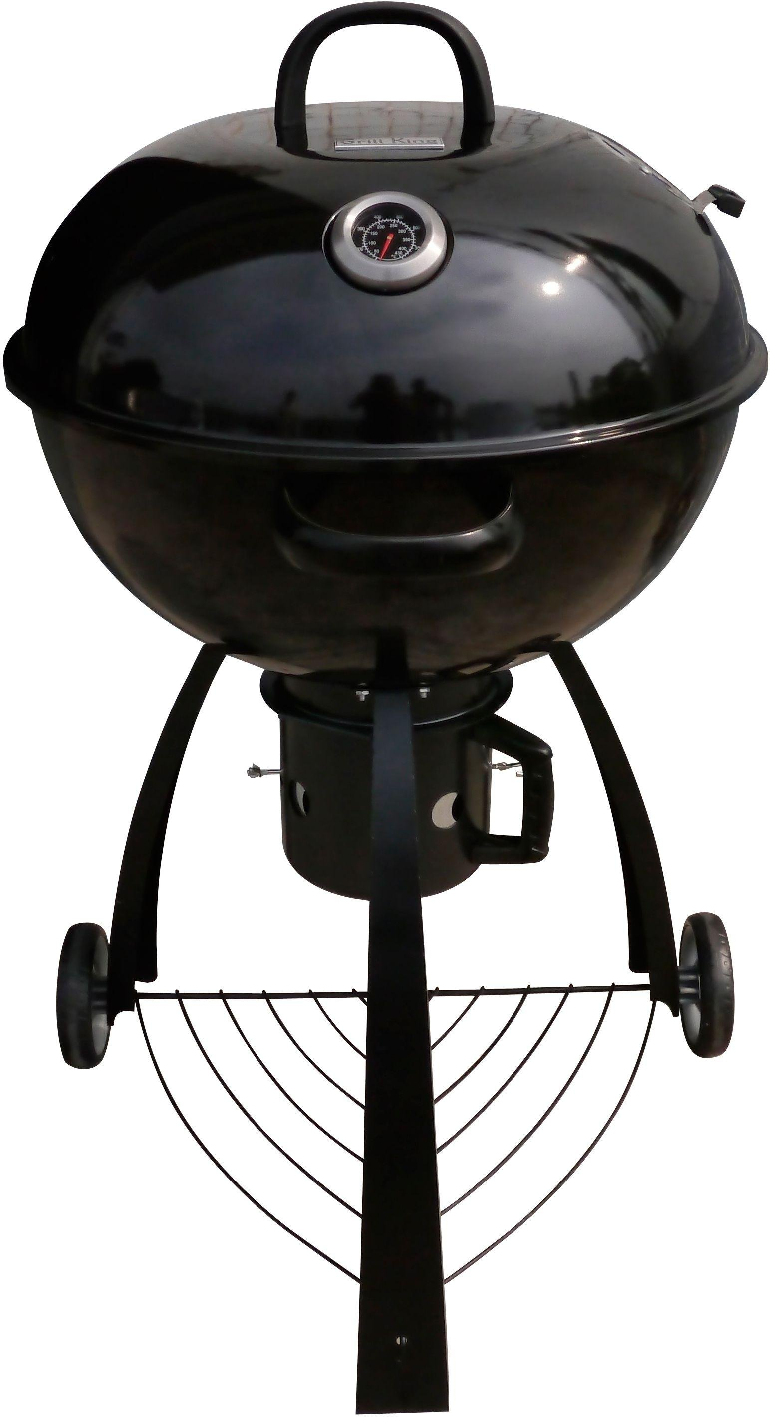 Grill King - 56cm Shiny Porcelain Kettle BBQ - Black lowest price