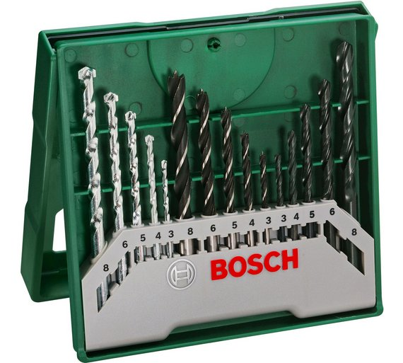 buy bosch 15 piece x line drill bit set at your online shop for diy power tool. Black Bedroom Furniture Sets. Home Design Ideas