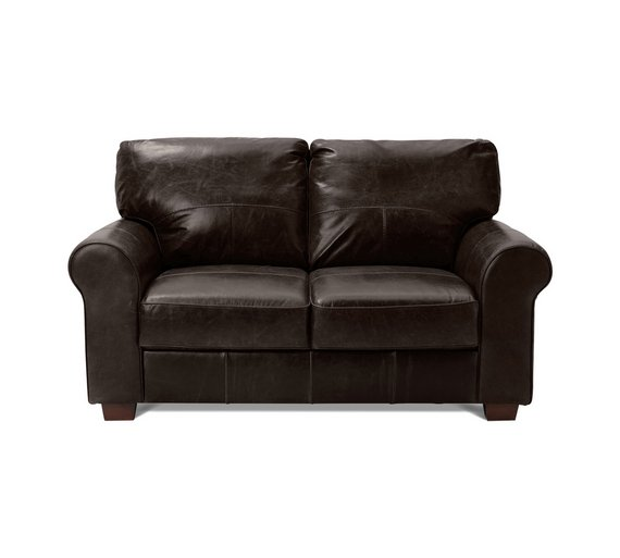 Buy Heart Of House Salisbury 2 Seater Leather Sofa Dark