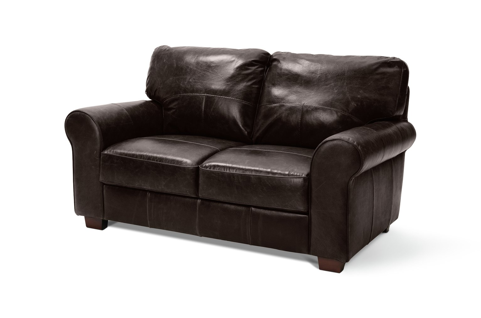 Buy Heart of House Salisbury 2 Seater Leather Sofa Chocolate at
