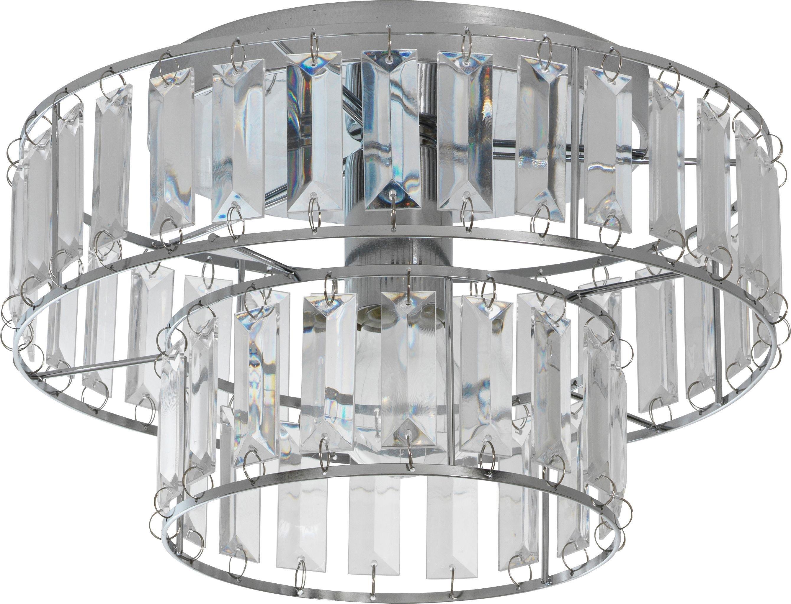 Argos Home Gisela 2 Tier Glass Ceiling Fitting - Chrome