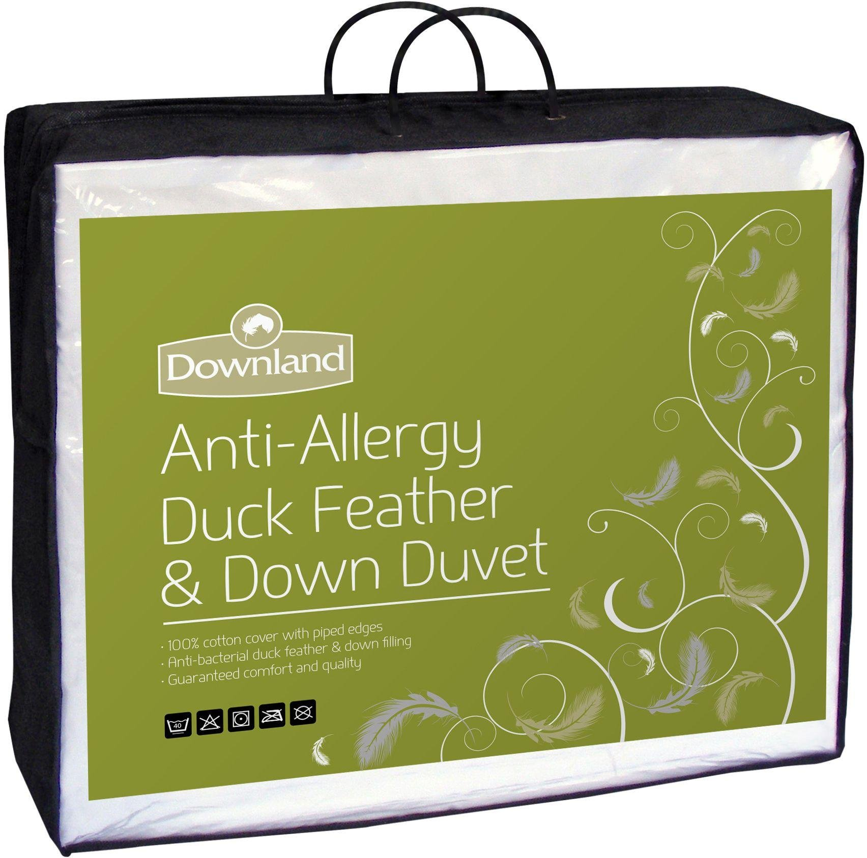 Downland Duck Feather & Down Anti-Allergy 15 Tog Duvet - Sgl
