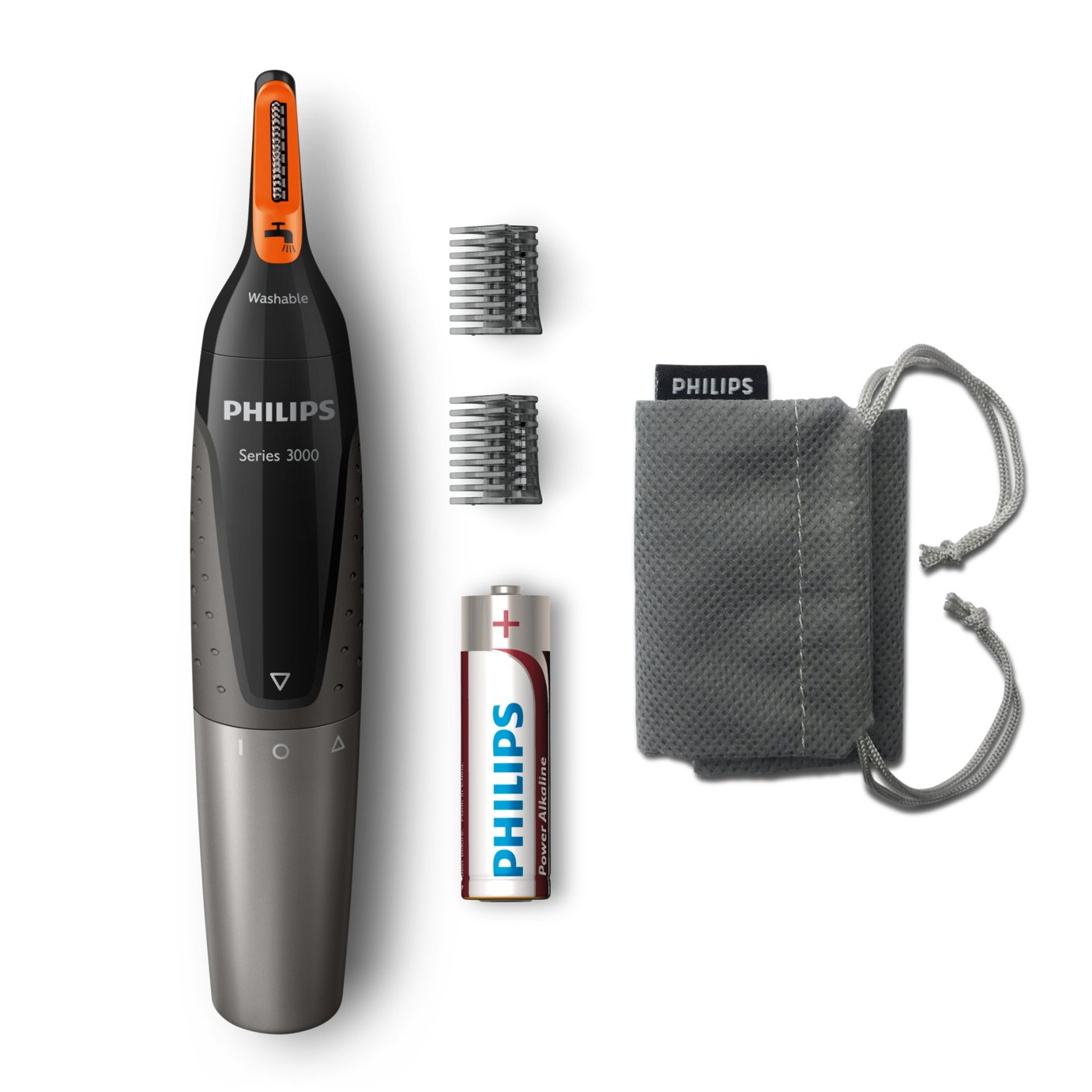 Ear/nose hair trimmer Philips NT3160/10 Series 3000 washable Black, Grey lowest price