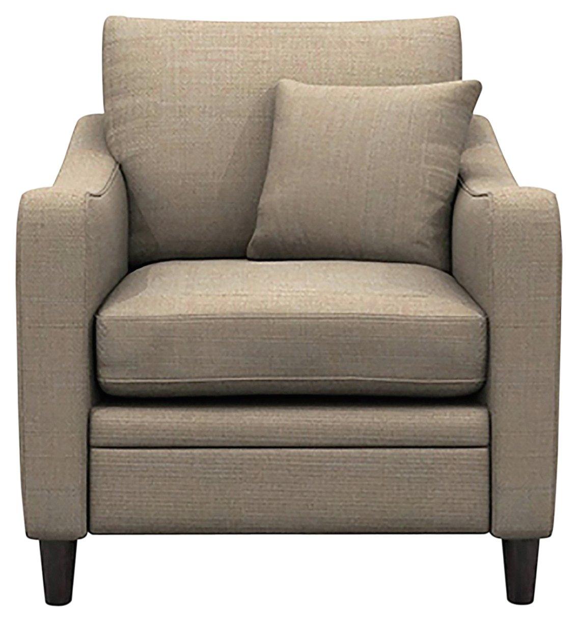 Heart of House Newbury Fabric Chair - Beige + Black Legs