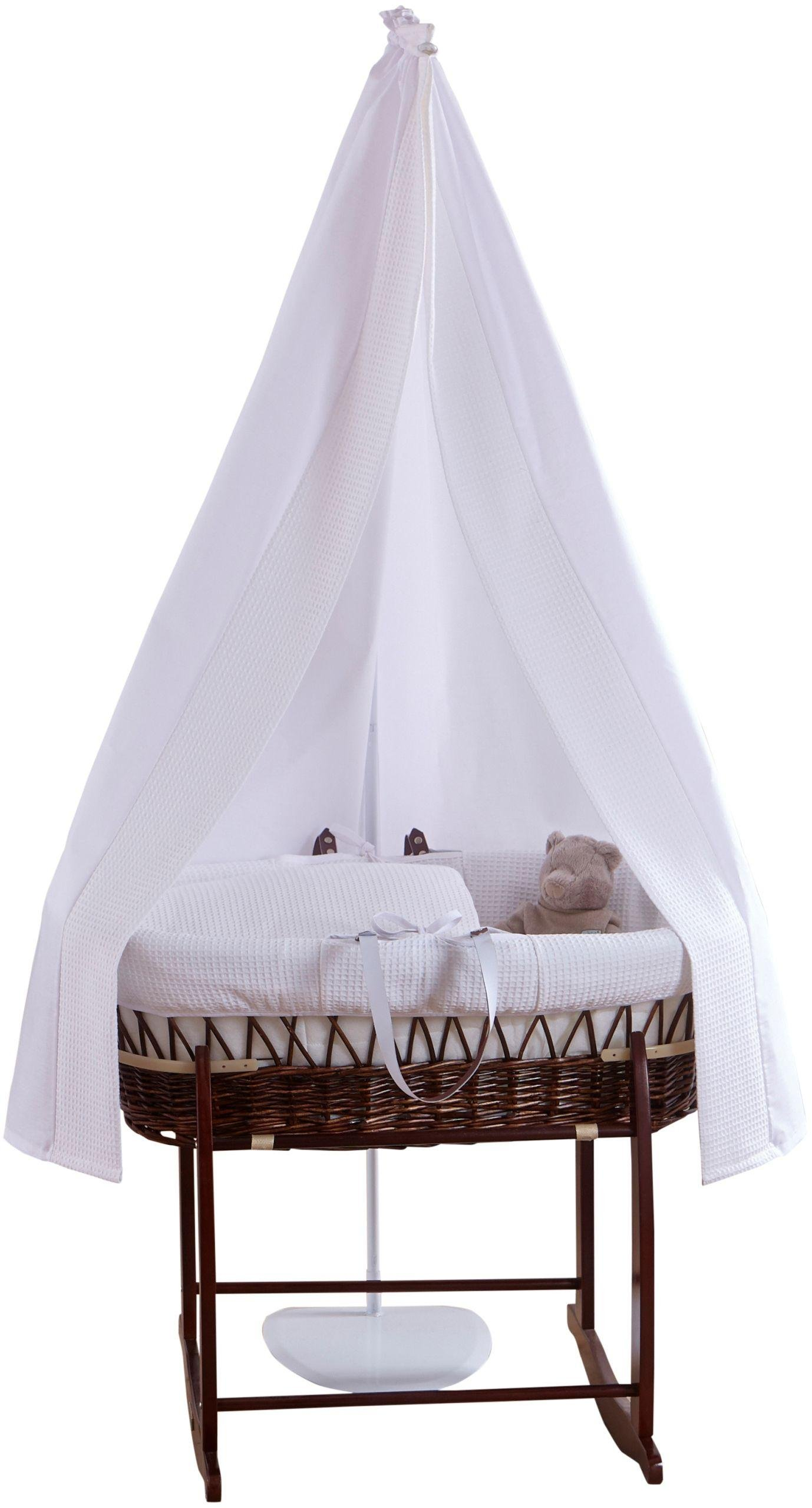 Image of Clair de Lune 3 Piece Waffle Starter Moses Basket Set.
