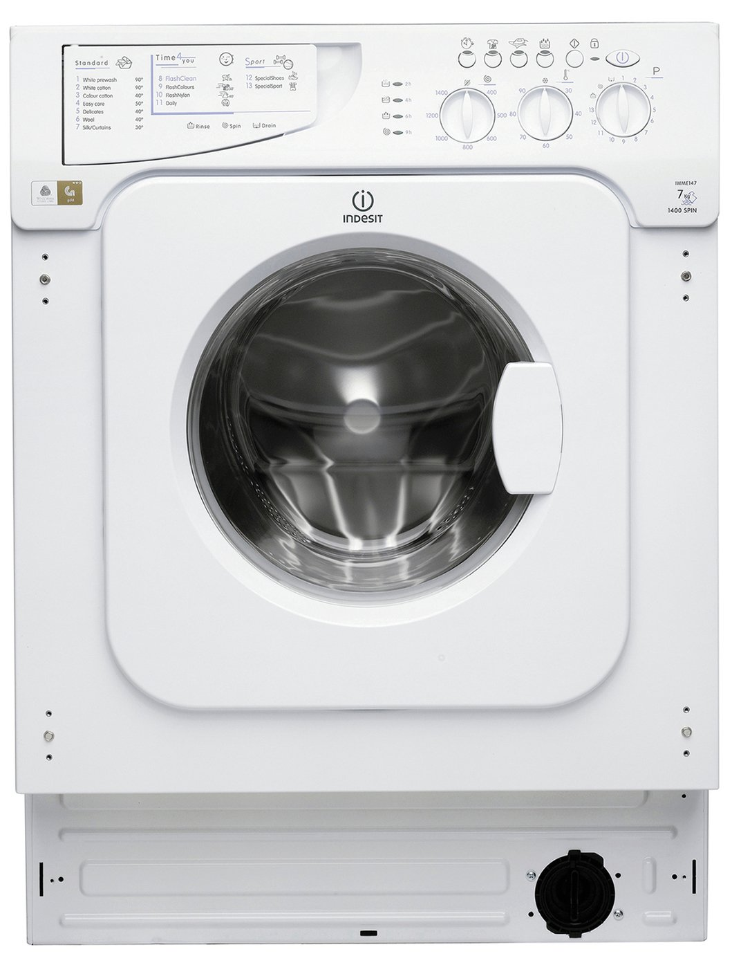 Image of Indesit IWME147 7KG 1400 Spin Washing Machine - White