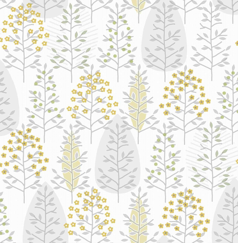 Fresco Scandiscape Ochre Yellow Wallpaper