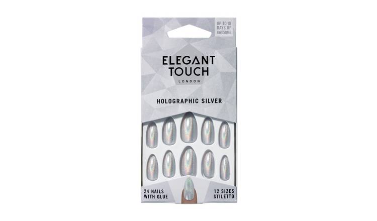 Elegant Touch Colour Nails - Holographic Silver