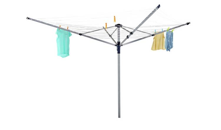 Argos Home Lift & Click 60m 4 Arm Rotary Airer