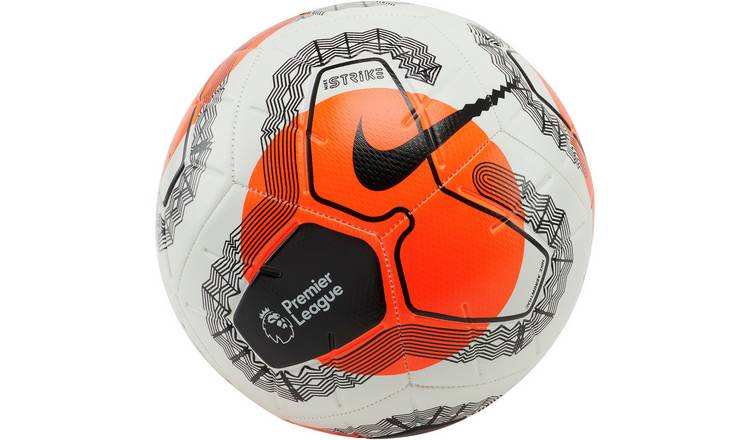 Nike Premier League Strike Size 5 Football - White and Red