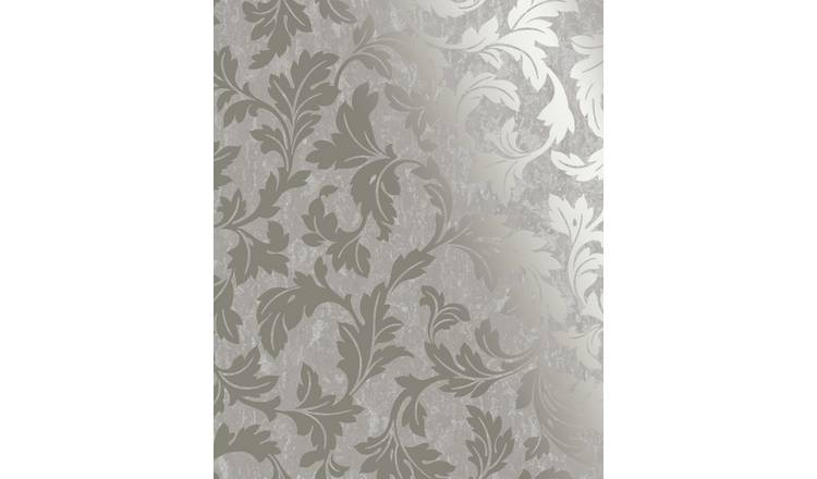 Superfresco Milan Scroll Taupe & Gold Wallpaper