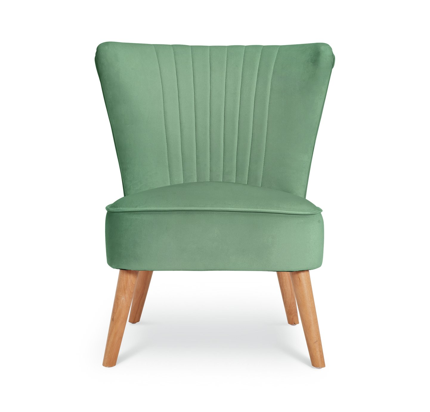 Argos Home Alana Velvet Shell Back Accent Chair - Mint