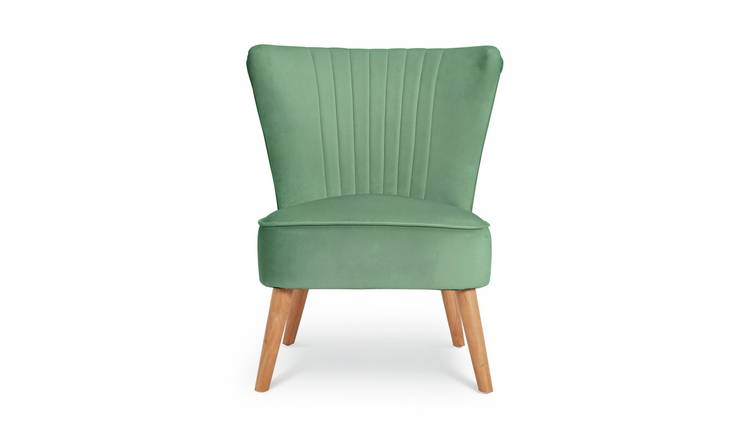 Habitat Alana Velvet Shell Back Accent Chair - Mint