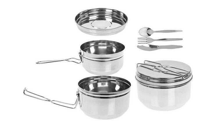 Summit Stainless Steel Tiffin Camping Cook Set - Set of 6