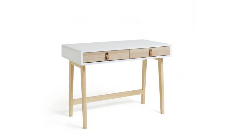 Habitat Copenhagen 2 Drawer Desk - Two Tone