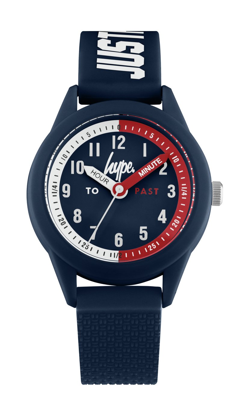 Hype Kids Blue Silicone Strap Watch