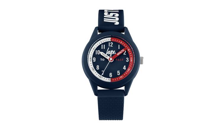 Hype  Blue Silicone Strap Watch