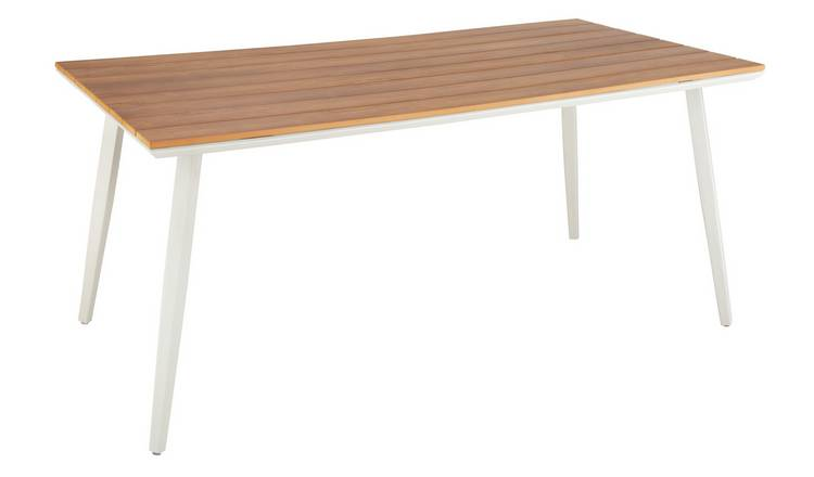 Argos Home Polywood Wood Effect 6 Seater Table