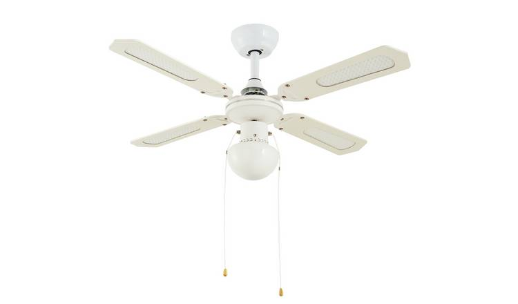 Argos Home Schoolhouse Fan - White