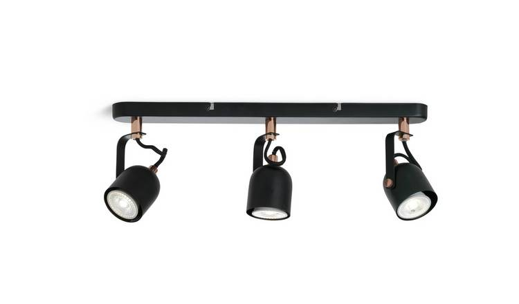 Argos Home 3 Light Spotlight - Rose Gold & Black