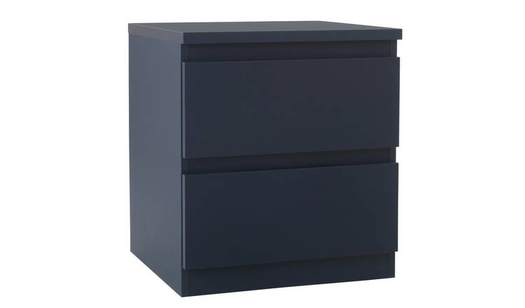 Argos Home Jenson 3 Drawer Bedside Table - Midnight Matte