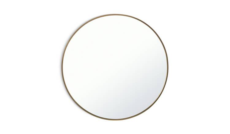 Argos Home Round Mirror - Brass