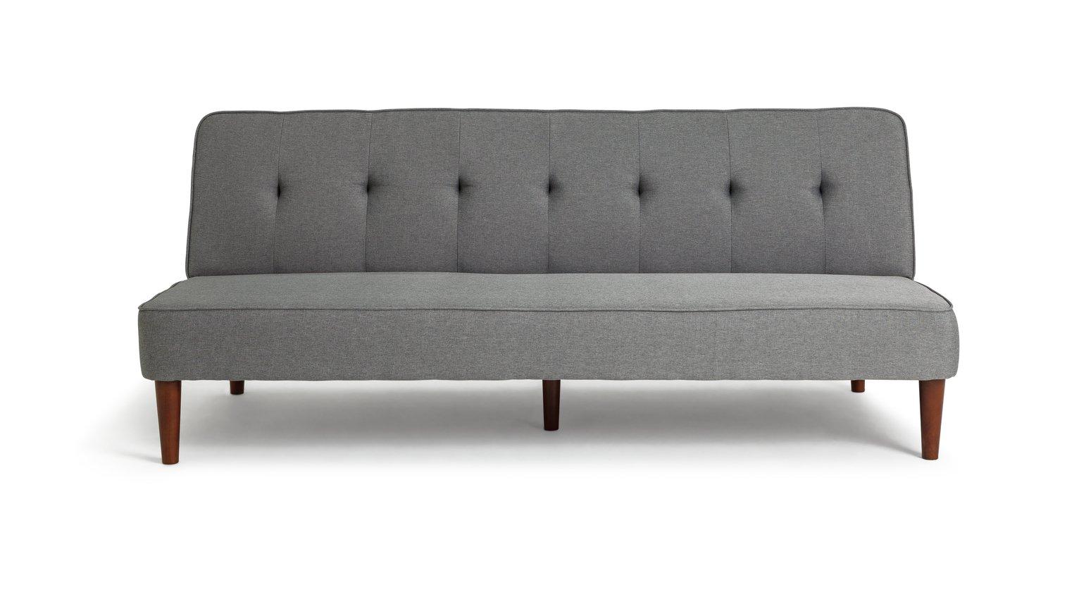 Habitat Odeon 2 Seater Fabric Sofa Bed - Grey