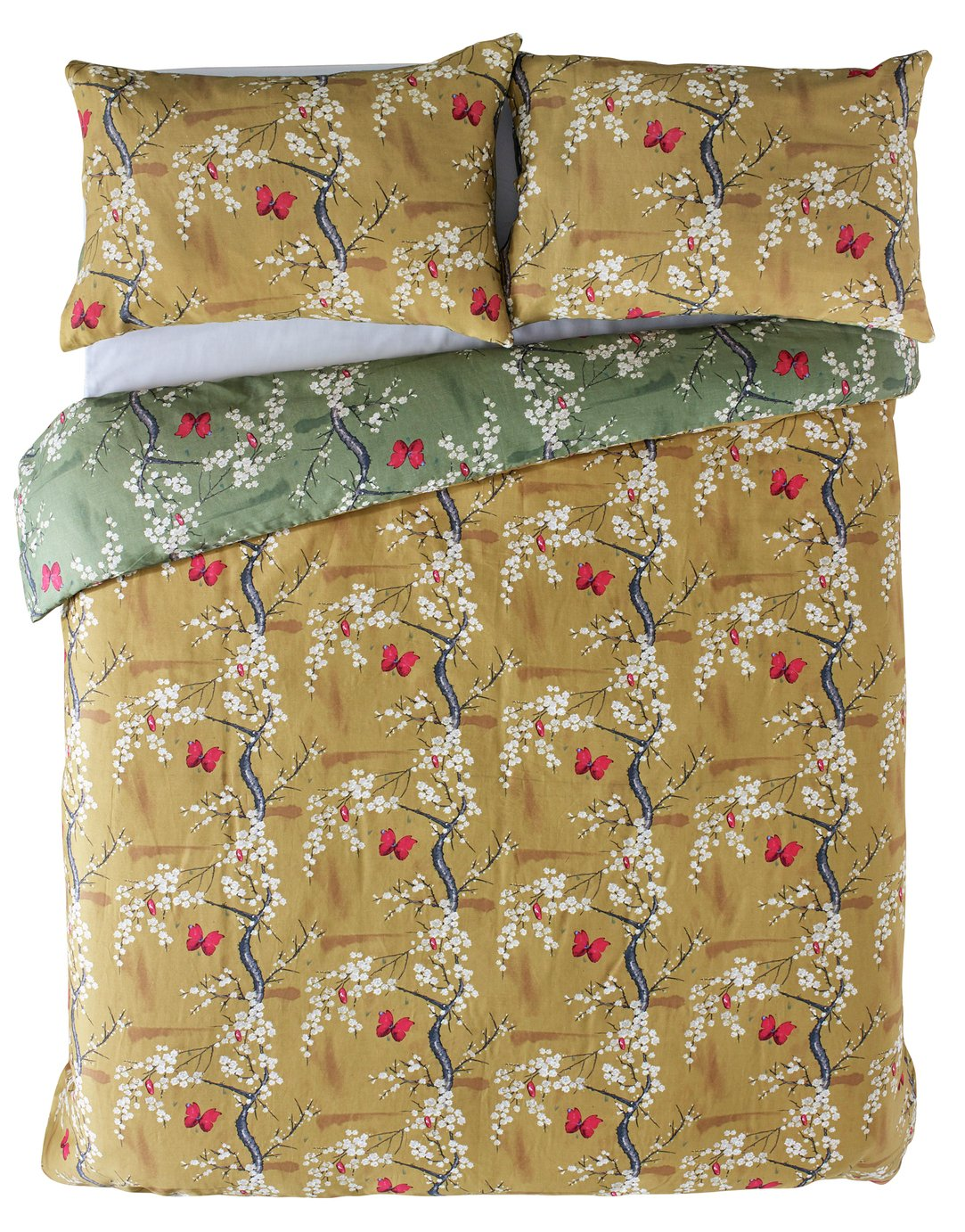 Angel Strawbridge Ochre Blossom Bedding Set - Kingsize