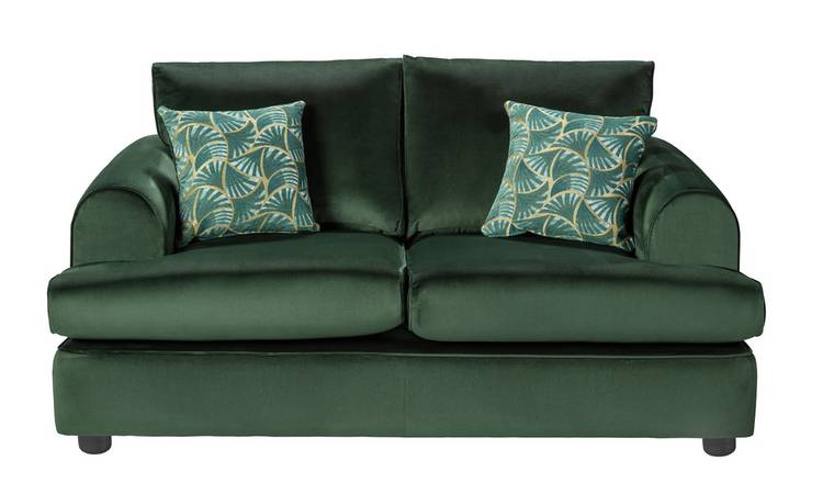 Argos Home Atticus 2 Seater Velvet Sofa - Green