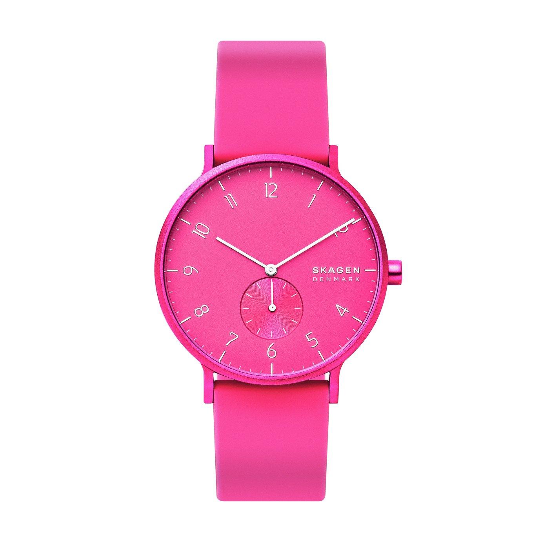 Skagen Kulor Neon Pink Silicone Strap Watch