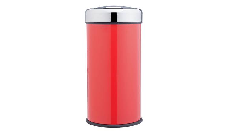 Buy Argos Home 30 Litre Round Kitchen Press Top Bin Red Kitchen Bins Argos