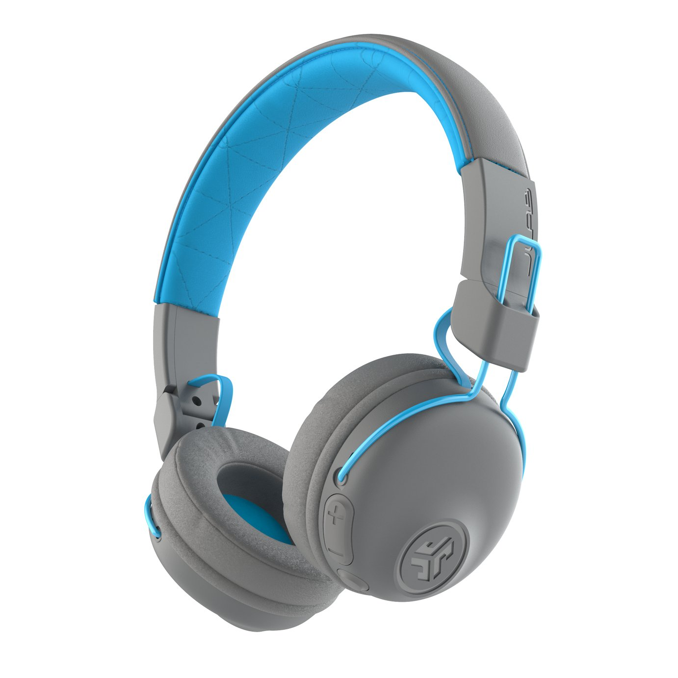 JLAB Studio On-Ear Wireless Headphones - Blue/Grey