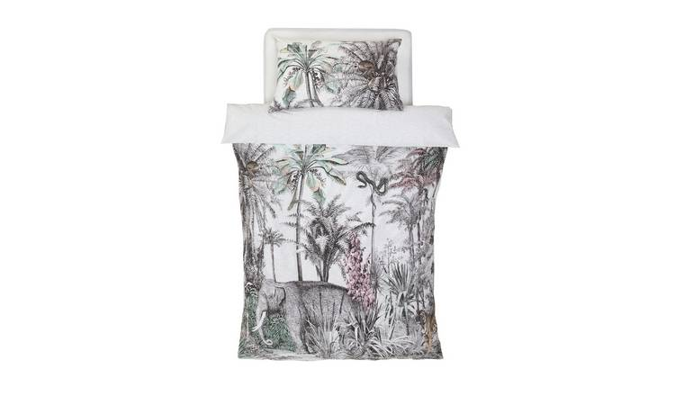 Argos Home Vintage Jungle Bedding Set - Single