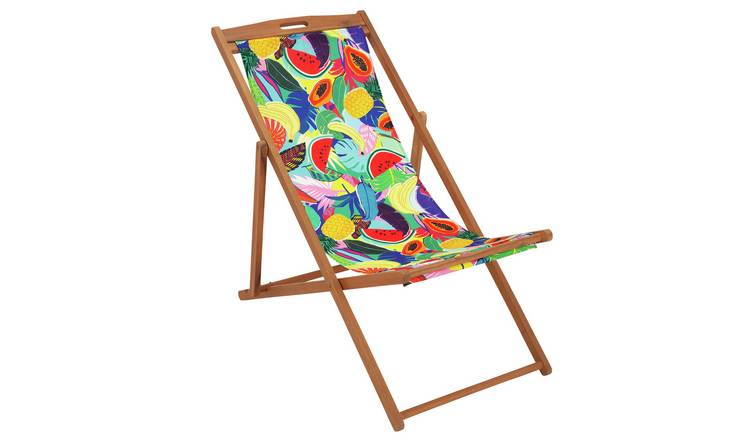 Argos Home Wooden Deck Chair - Ipanema Fruit 0