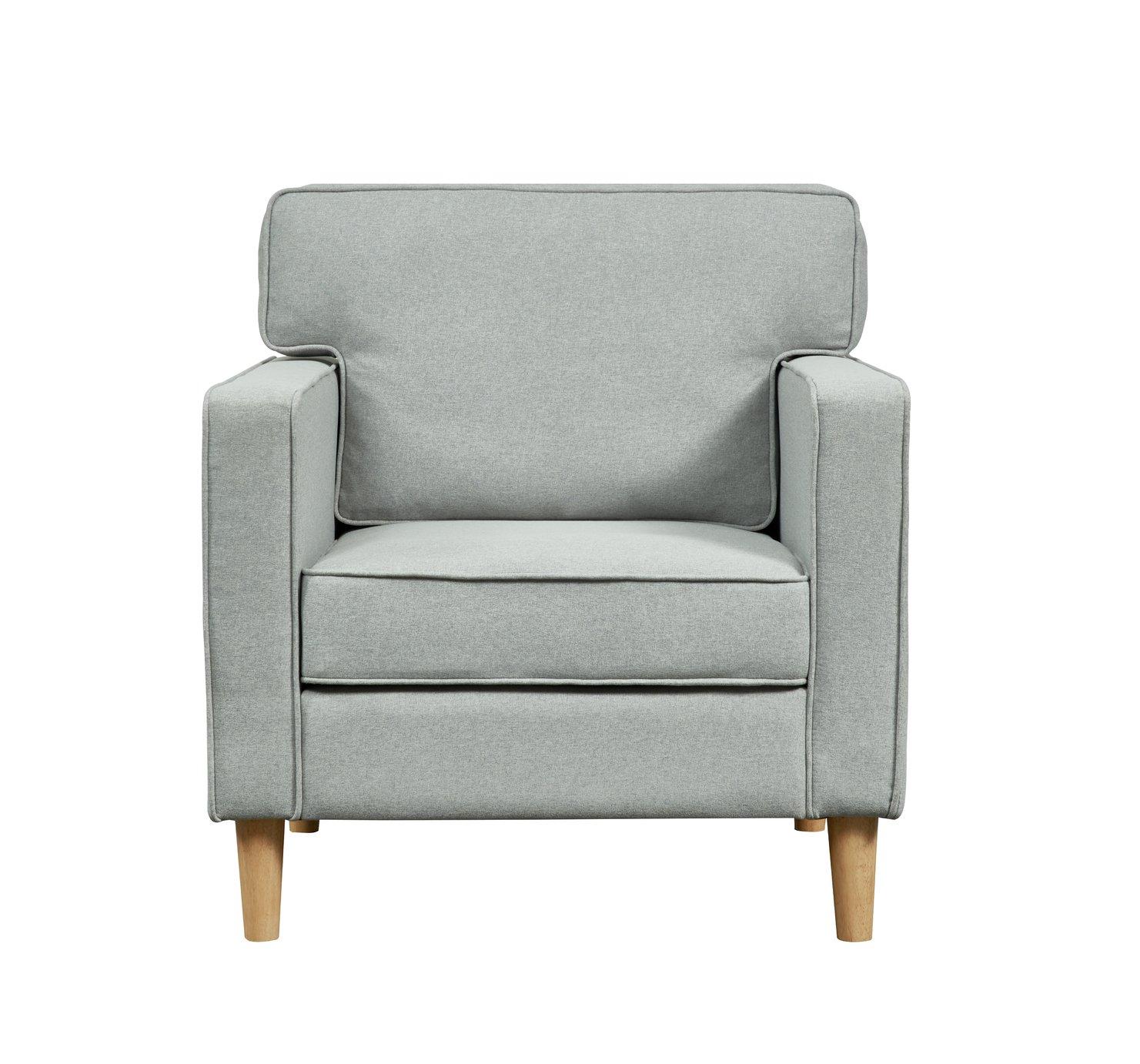 Argos Home Christopher Fabric Armchair - Grey