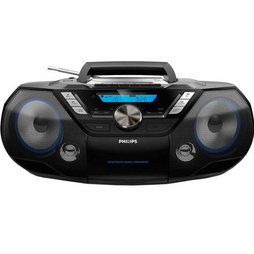 Buy Philips AZB798 Boombox Bluetooth CD Cassette Player – Black | Personal  CD players and cassette players | Argos