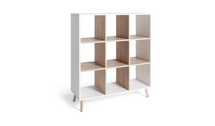Habitat Skandi 3 x 3 Storage Unit - White Two Tone