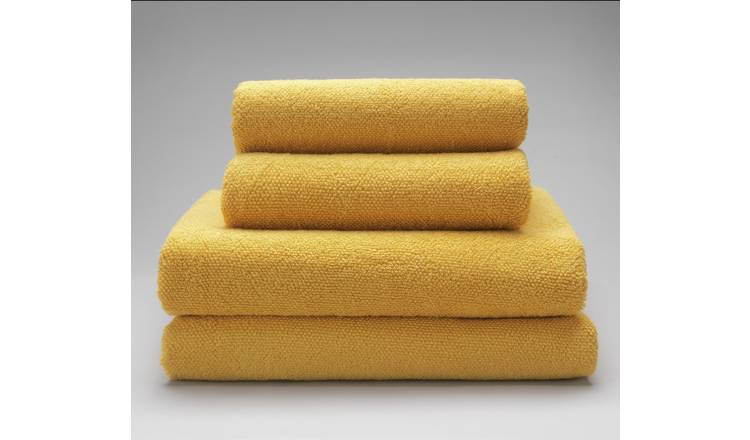 Argos Home 4 Piece Towel Bale - Mustard