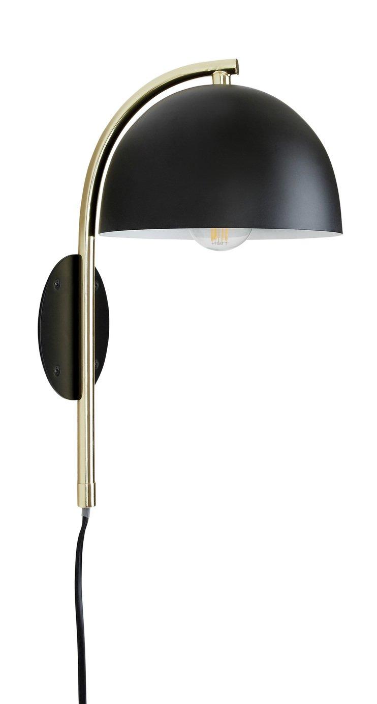 Habitat Ivar Wall Light - Brass & Black