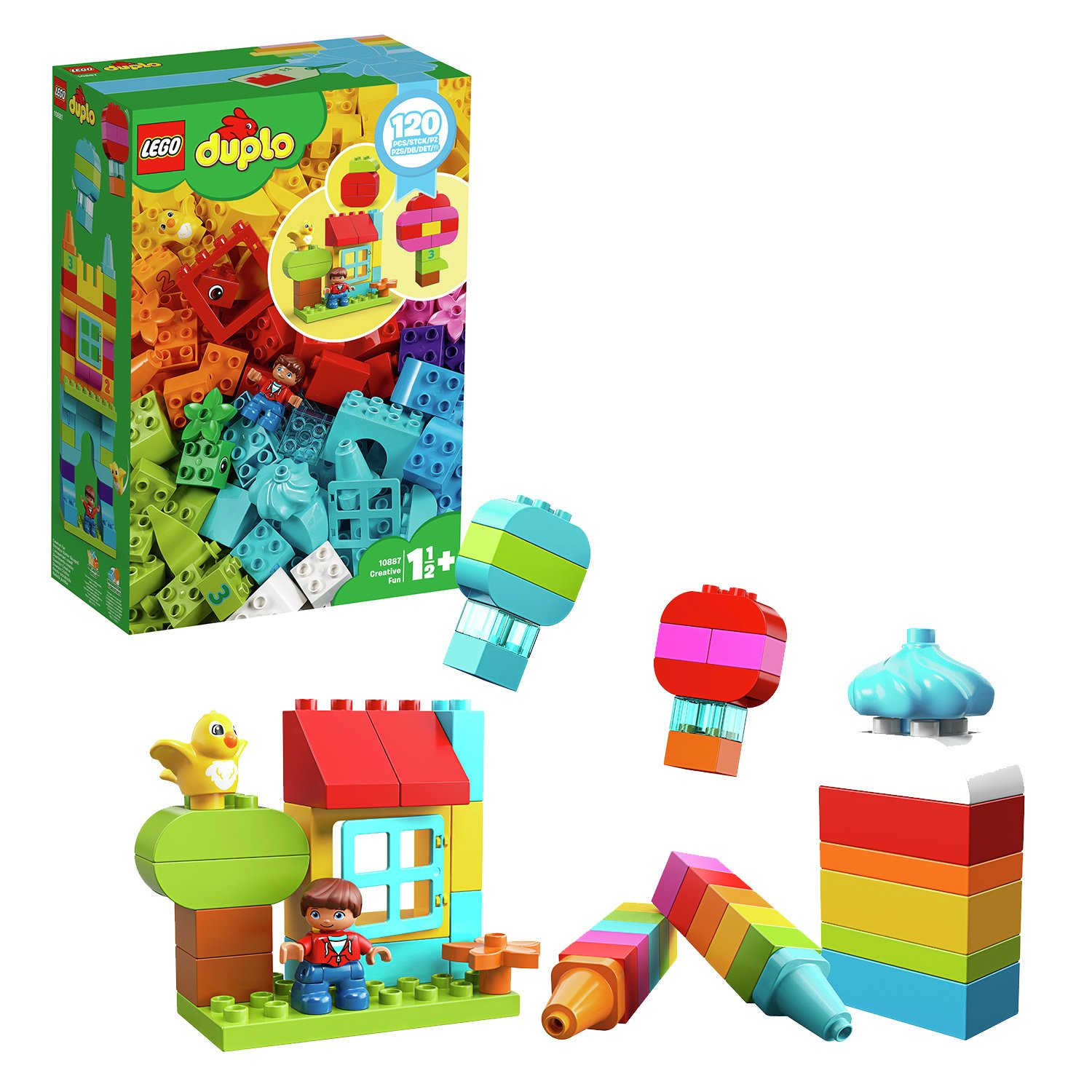 LEGO DUPLO Creative Fun Large Bricks Building Set - 10887