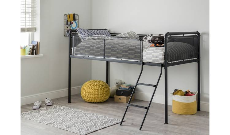 Argos Home Maddox Mid Sleeper Bed and Kids Mattress - Black