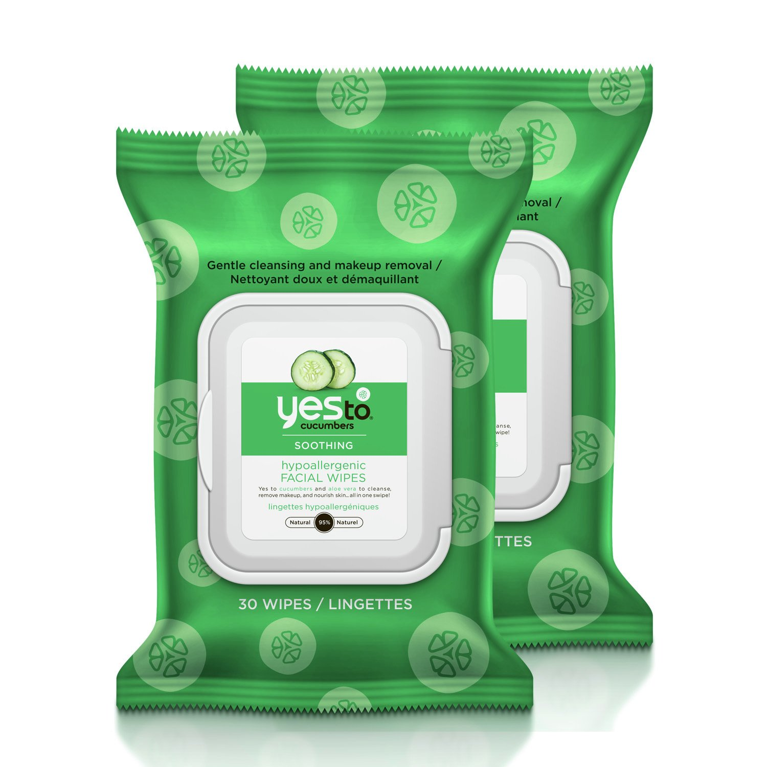 Yes To Cucumber Smoothing Face Wipes x30